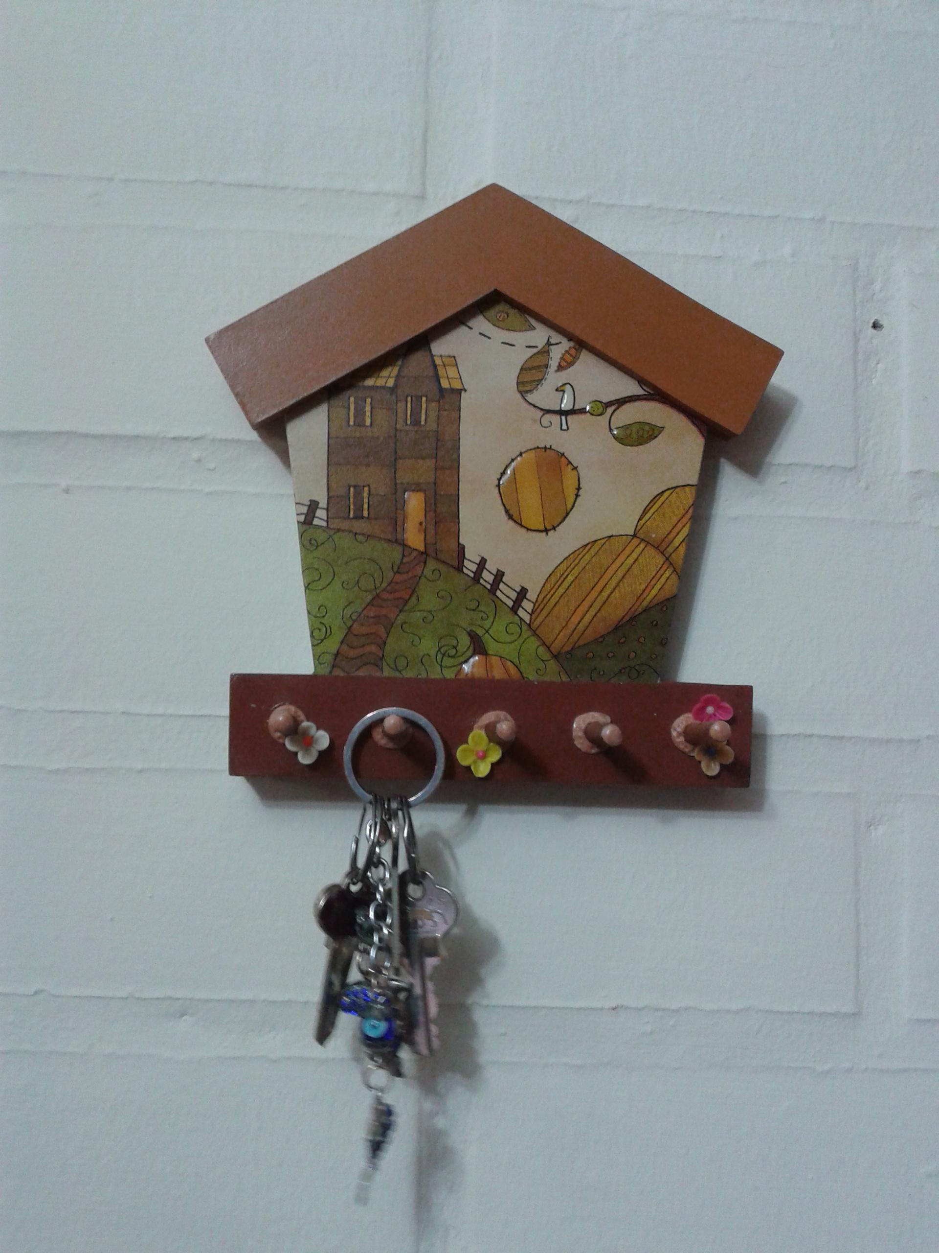 Manualidades portallaves de madera manualidades portallaves de madera portallaves de madera - Porta llaves pared ...